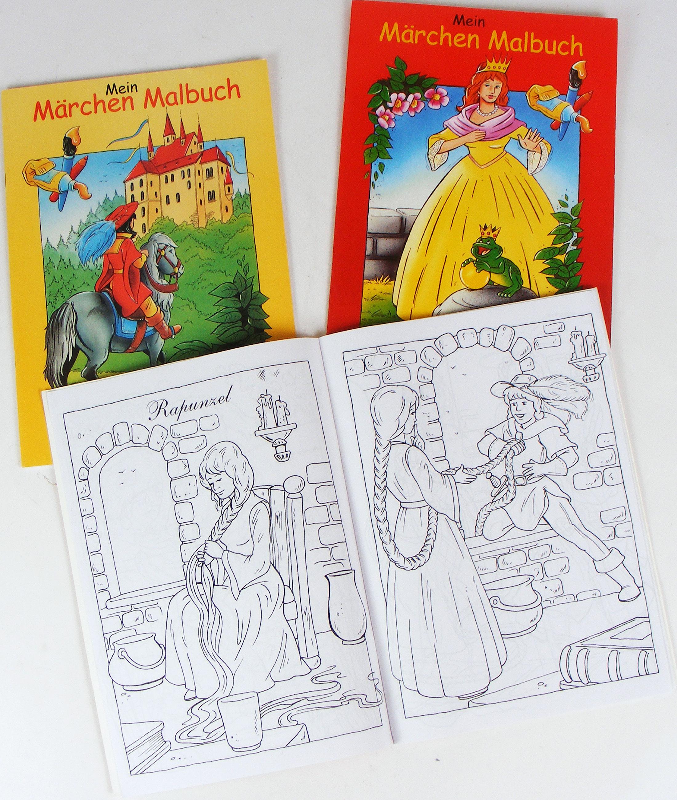 Mein Märchen Malbuch Ausmalheft A4 64 Seiten - Gebrüder Grimm