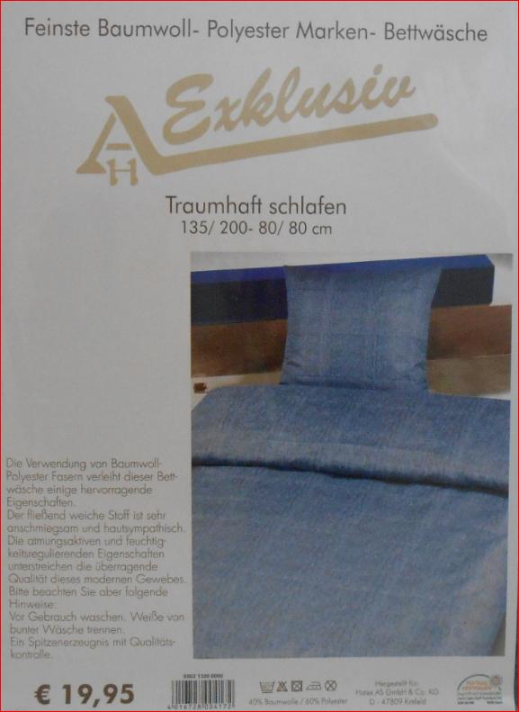 baumwoll mikrofaser bettw sche 2 teilig 135x200 80x80. Black Bedroom Furniture Sets. Home Design Ideas