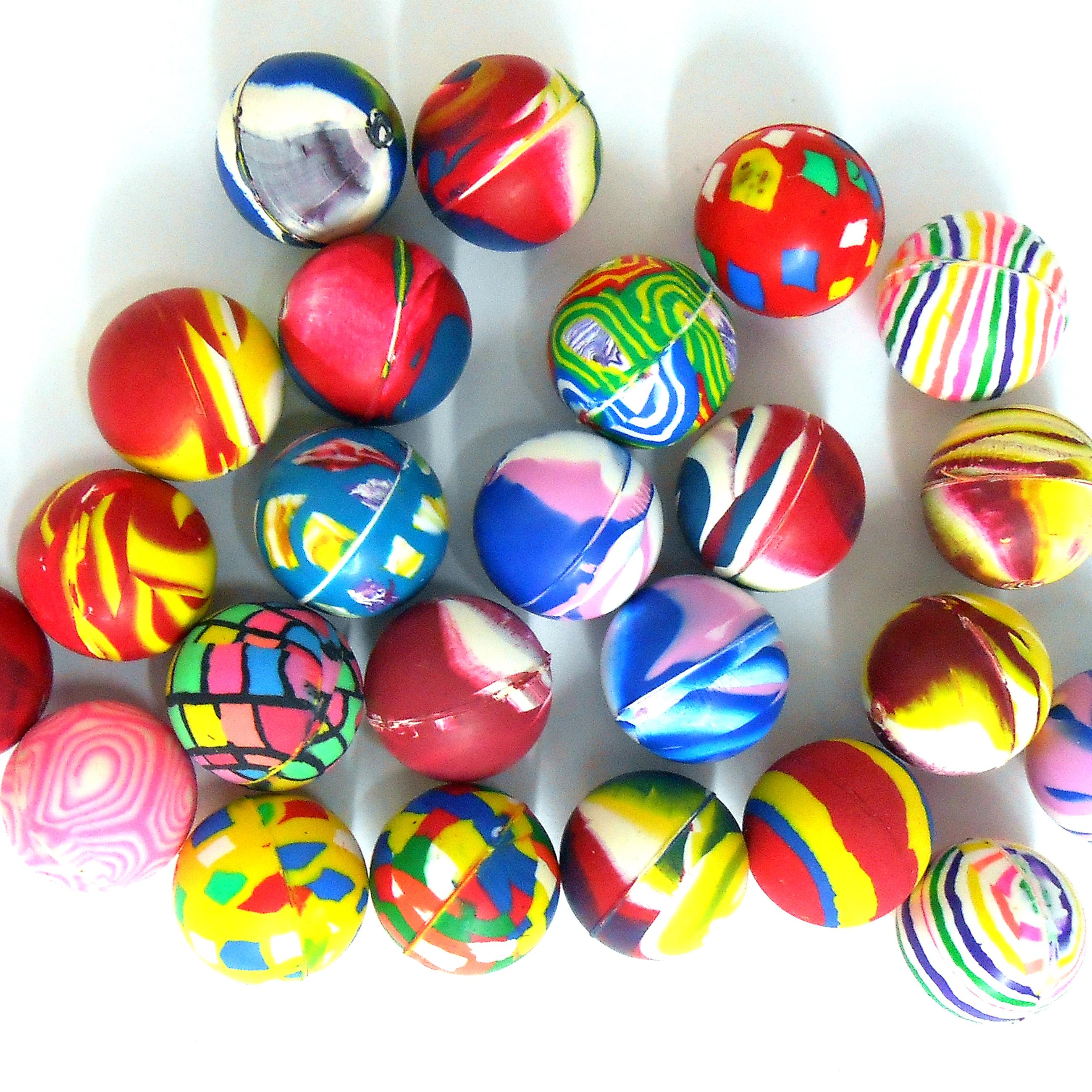 20x gummiball ca 26mm in bunten farben f r kinder katzen und kleine hunde. Black Bedroom Furniture Sets. Home Design Ideas